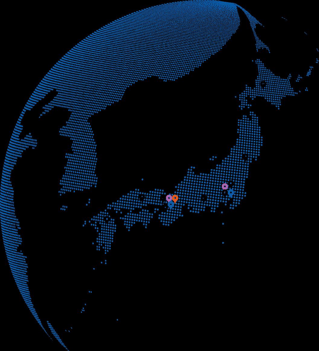 ハイアールグループの国内主要地点の図