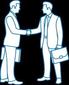 ビジネスマンが握手してる画像