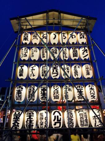 熊谷うちわ祭りの様子